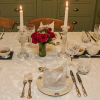 Table set for birthday party at Rose Farm Cottage