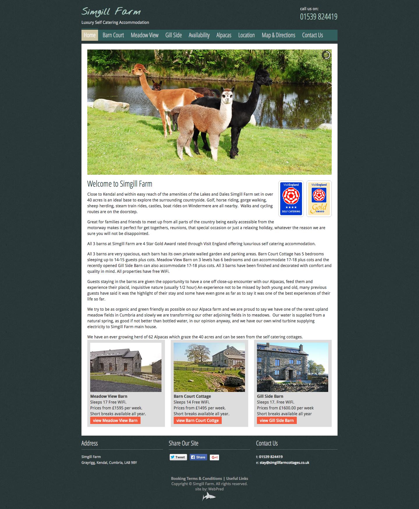 SimGill Farm Luxury 5-Star Self Catering Accommodation Grayrigg Kendal Cumbria