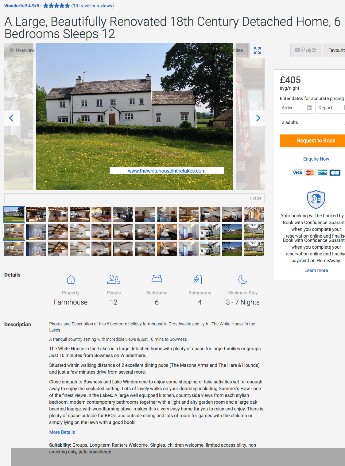 The White House in the Lakes large beautifully renovated 18th Century Detached Home