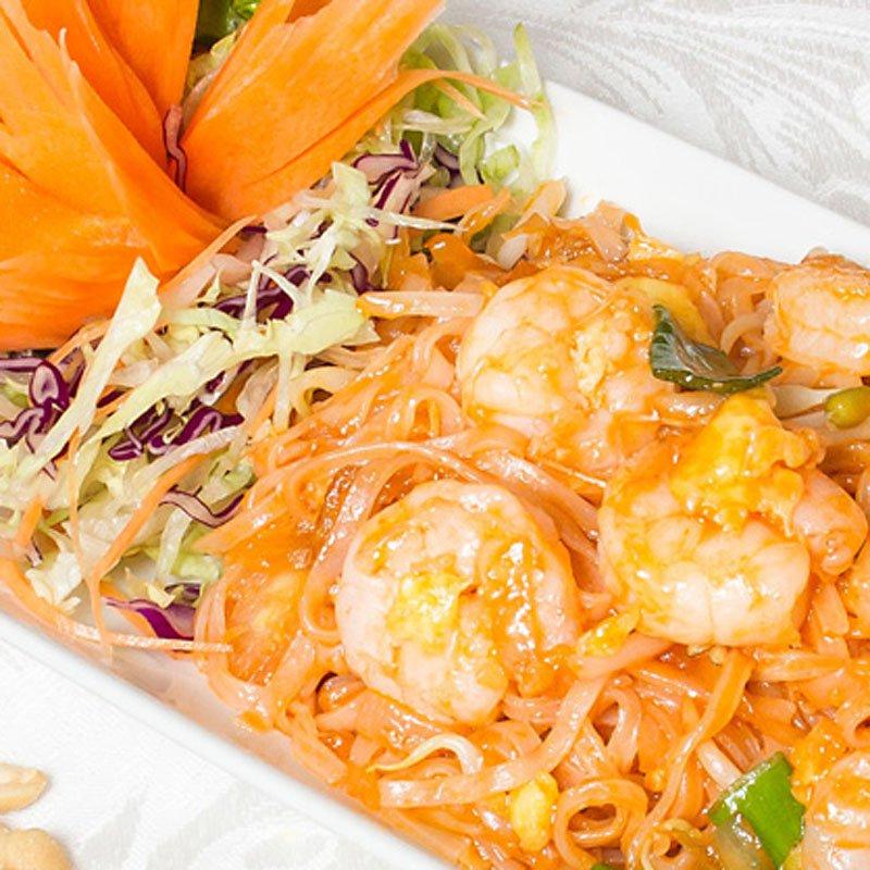 Pad Thai Khung Thai noodles with prawns
