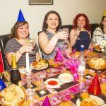 Girls celebrate Laura's hen party Simgill Farm holiday cottage Grayrigg near Kendal