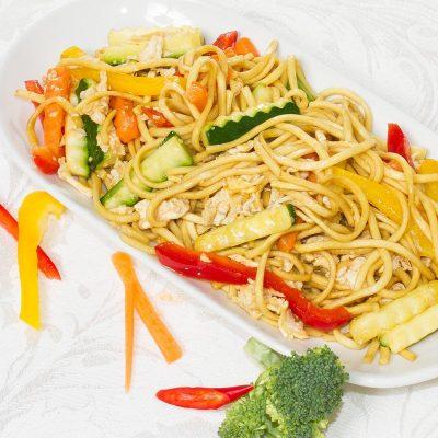 Stir-Fry Vegetables with Noodles (Phad Pak Ruamit - ผัดผักรวมมิตร)