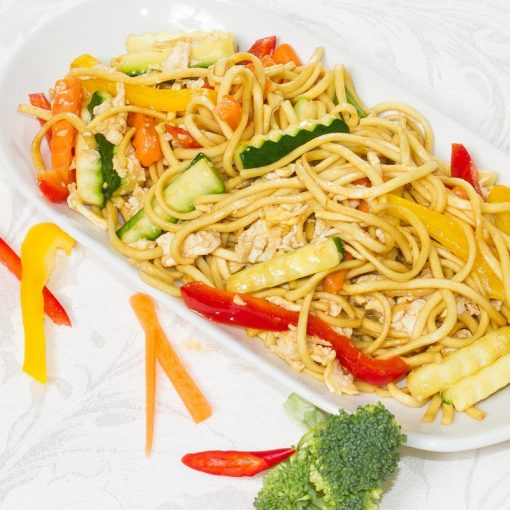 Stir-Fry Vegetables with Noodles (Phad Pak Ruamit - ผัดผักรวมมิตร)