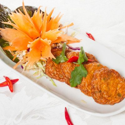 Thai Menu Thai Fish Cakes (Tôt Man Bplaa) ทอดมันปลา