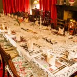 Table set for Simon's dinner party at Longlands House, Cartmel