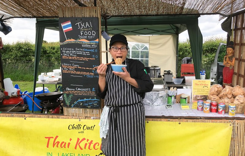 thai chef, thai streetfood at events and festivals in Cumbria, The Snug, Carnforth