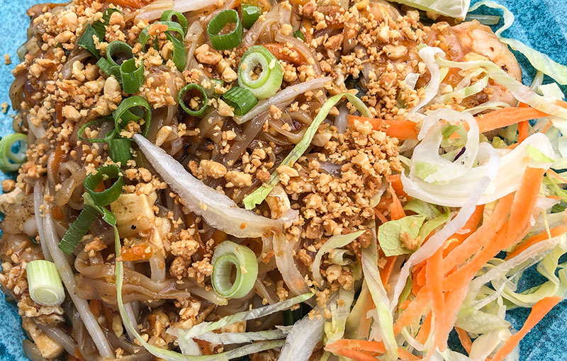 A dish of Pad Thai noodles from our Thai takeaway menu