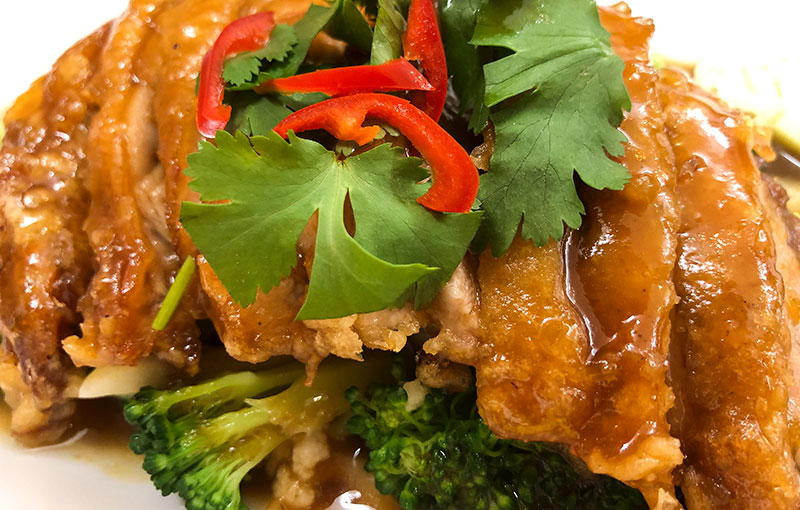 A dish of Ped Makham (duck in tamarind sauce) from our Thai takeaway menu this week